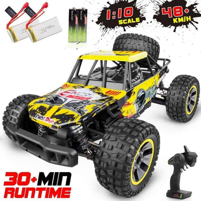 WHIMSWIT Remote Control Car, 1 10 Off-Road Monster Truck