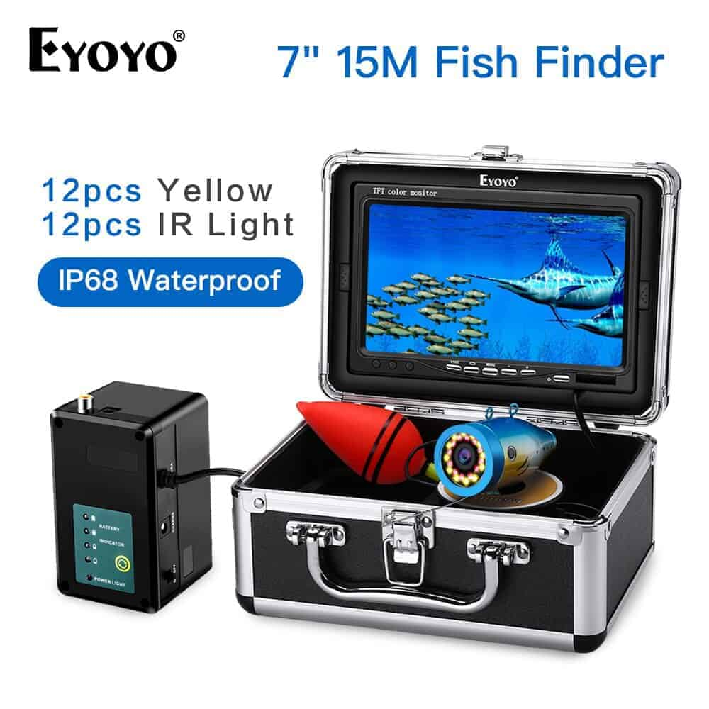 Eyoyo-7-Inch-15M-1000TVL-Fish-Finder-12pcs-Yellow-Leds-12pcs-IR-LEDs-Underwater-Fishing-Camera