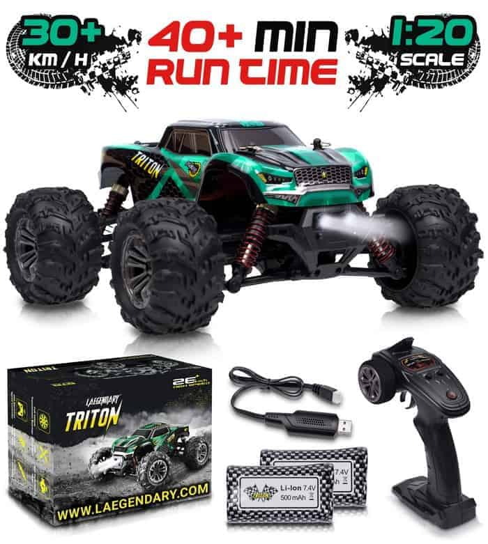 1 20 Scale RC Cars 30 kmh High Speed - Boys Remote Control Car 4x4 Off Road Monster Truck Electric
