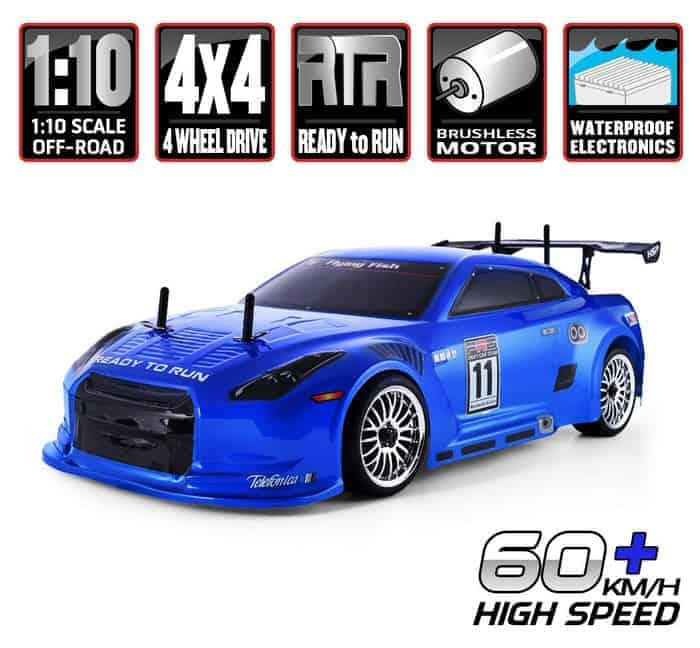 HSP RC Car 1 10 Scale 4wd Off Road RC Drift Car Electronic Monster Truck 4x4 Vehicle Toys Brushless Motor Lipo Battery High Speed 60kmh RTR