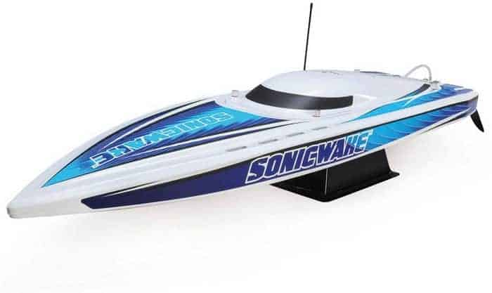 fast rc boat Pro Boat Sonicwake 36 Self-Righting Brushless Deep-V RTR_1
