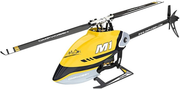 OMPHOBBY M1 RC Helicopters Dual Brushless Motors Mini RC Helicopter for Adults Direct-Drive 3D Remote Control Helicopters-BNF