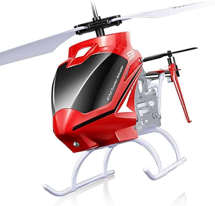 POCO DIVO Raptor S39 RC Helicopter 2.4Ghz Medium Size Alloy Gyro Dual Speed 3CH Indoor Flight Aircraft with Light