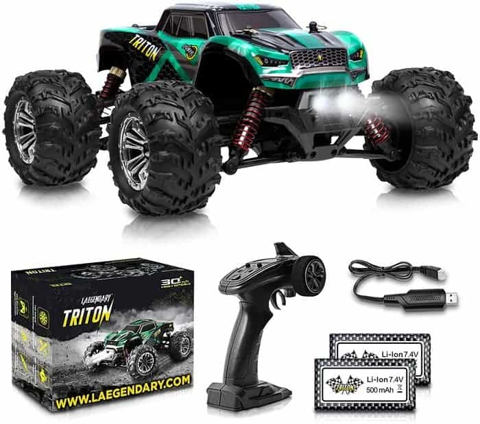 1 20 Scale RC Cars 30+ kmh High Speed Boys Remote Control Car 4x4 Off Road Monster Truck Electric 4WD All Terrain Waterproof