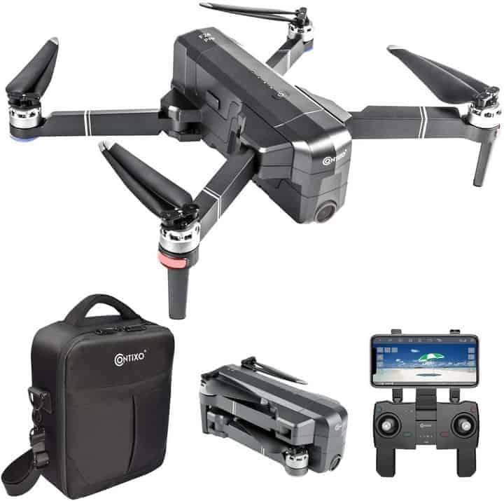 Contixo F24 Pro 4K UHD Foldable RC Quadcopter GPS Drone for Adults, FPV Camera